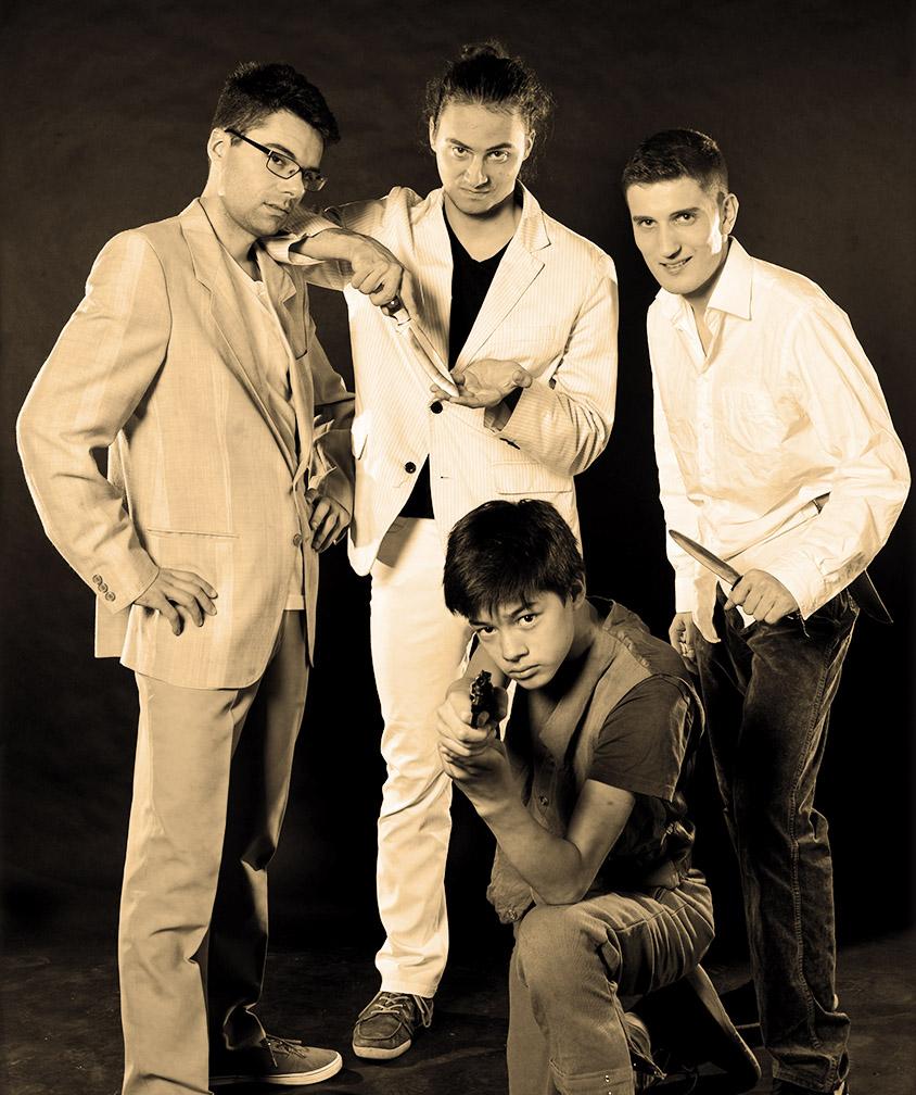 David, Moritz, Henrik, Genjiro
